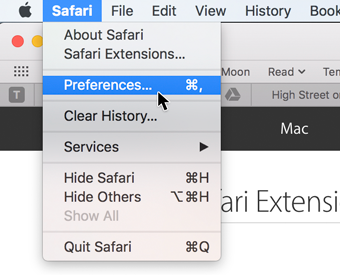 Safari - Preferences